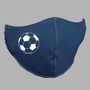 Navy Mask with Soccer ball