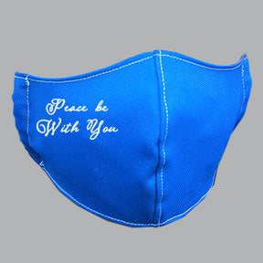 Royal Mask with Peace Message Embroidery