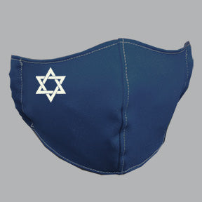 Navy Mask with Star of David Embroidery