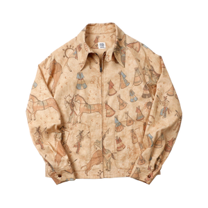 Indian Print Coach Jacket