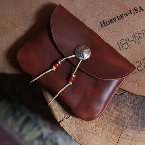 Horween Chromexcel Brown Handmade Coin Card Bag