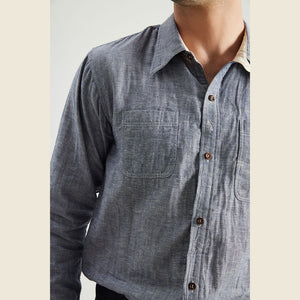 1930s Denim Color Work Shirt