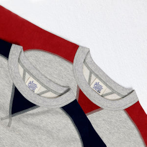 1940'S Color Blocking Double-V Sweatshirt