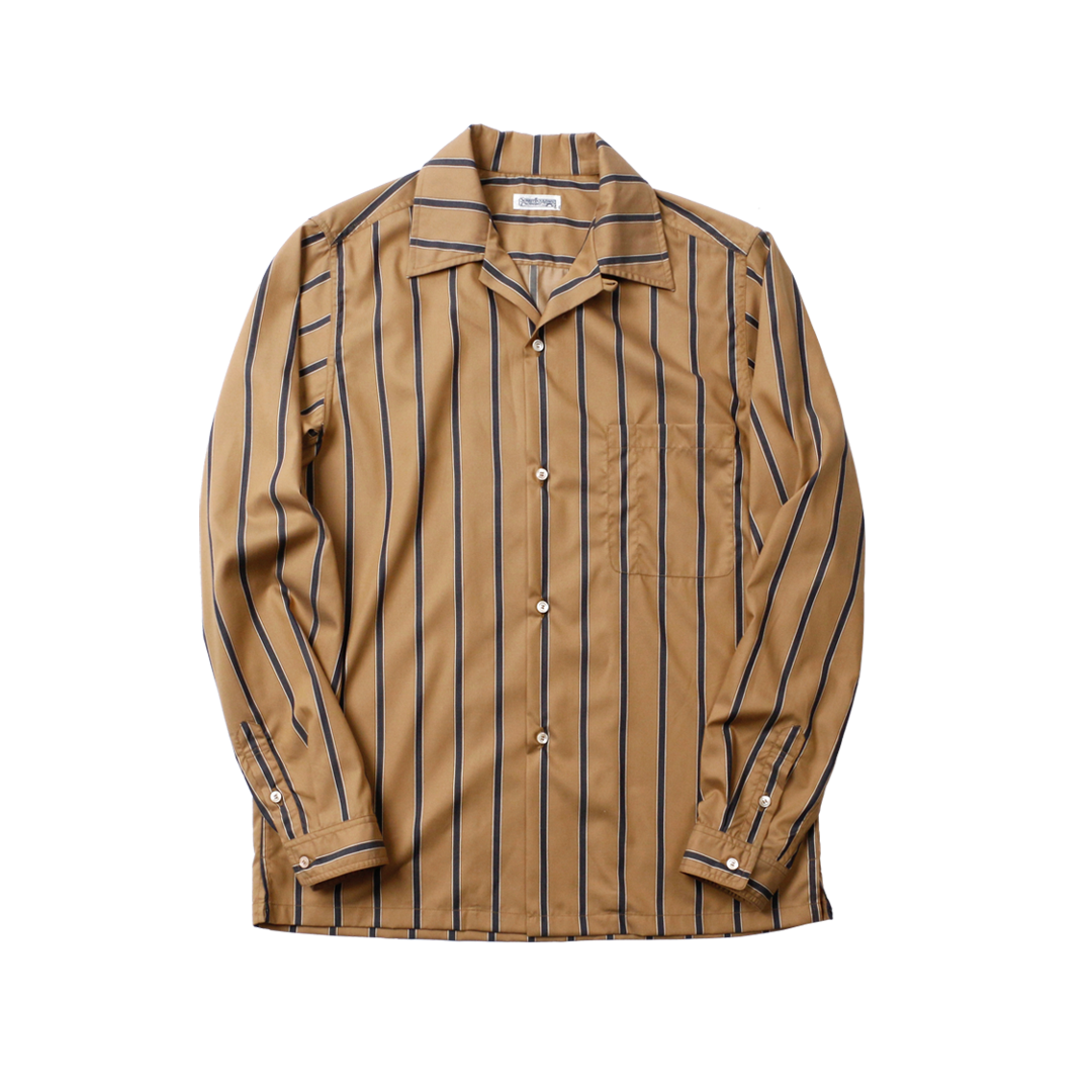 1950s Camellia Oil Cotton Striped Work Shirt