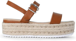 Elsa Espadrille Sandals in Beachy Brown
