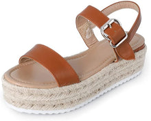Load image into Gallery viewer, Elsa Espadrille Sandals in Beachy Brown
