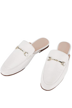 Load image into Gallery viewer, Catherine Backless Mules in White