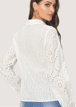"Load image into Gallery viewer, ""All Eyes On You"" Eyelet Button Top"