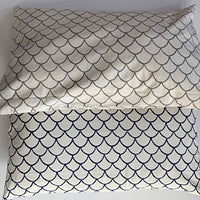 Mermaid print hand block printed pillowcase