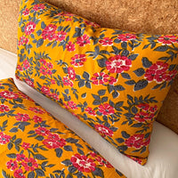 Turmeric and hot pink pillowcase