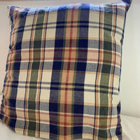 plaid indian cotton euro pillowcase