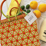 Passionfruit basket small vintage orange