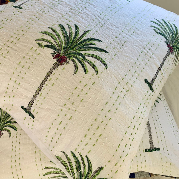 palm tree european pillowcase