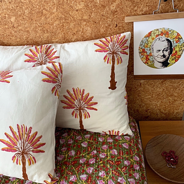 Lazy days in the garden kantha quilt Queen/ King