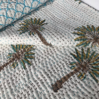 Boho palm and mermaid waves on the cot