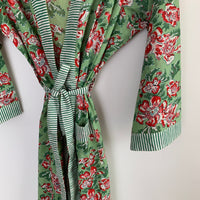 Flowers in the meadow - cotton kimono robe