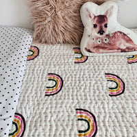 Rainbows padded cotton coverlet - kids bedding