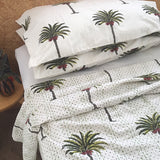 Palmiste dot palm queen reversible kantha quilt