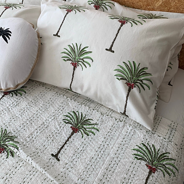 Palmiste 2.0 block print pillowcase