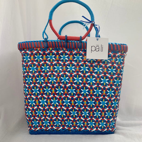 pali passionfruit medium basket recycled plastic blue red