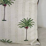 palm tree kantha european pillowcase set