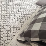 Mermaid grey days - Queen kantha quilt