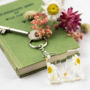 Daisy and Gold Initial Keyring