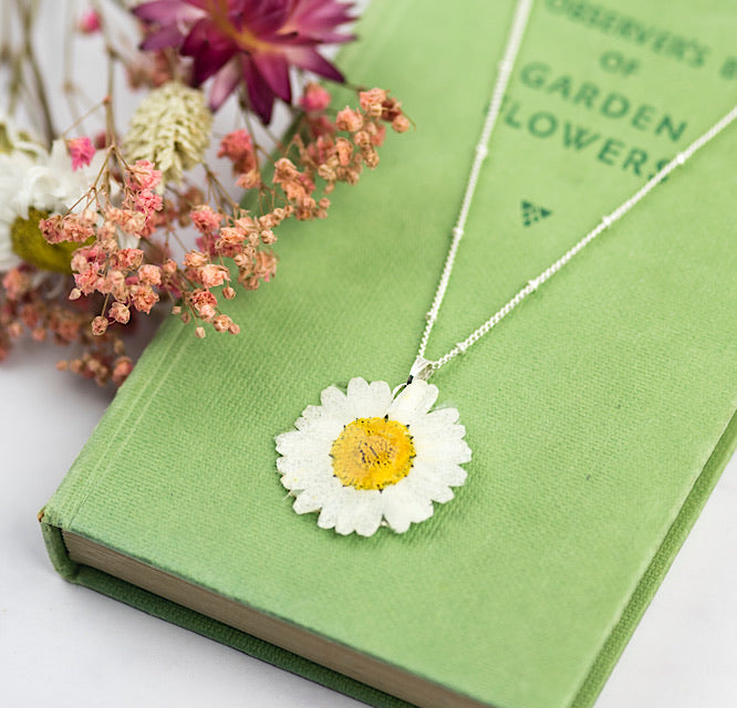 Real Daisy Necklace