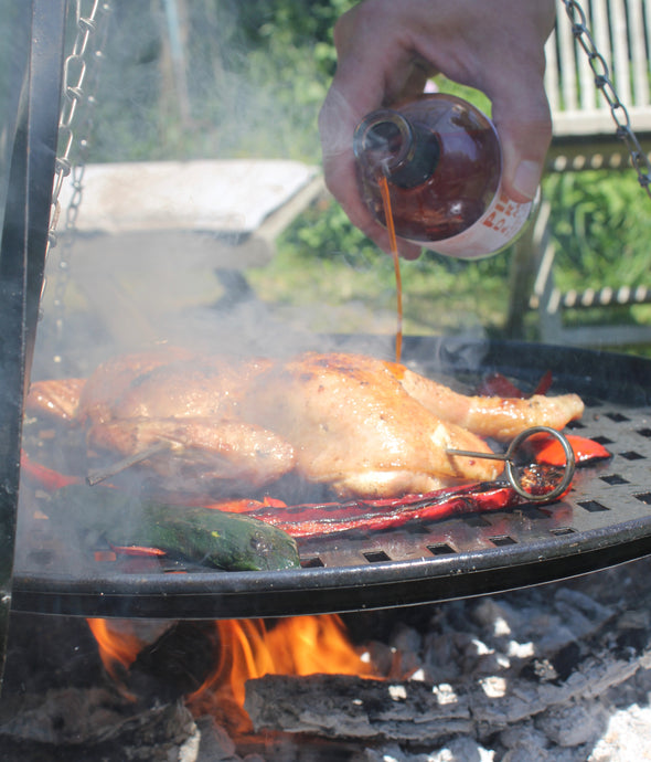 Roasted chicken with spiced rice & Piri Piri Dressing & Marinade