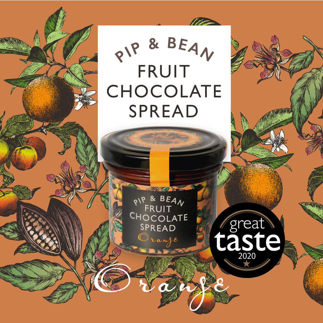 Pip & Bean Fruit Chocolate Spread - Orange - Great taste*