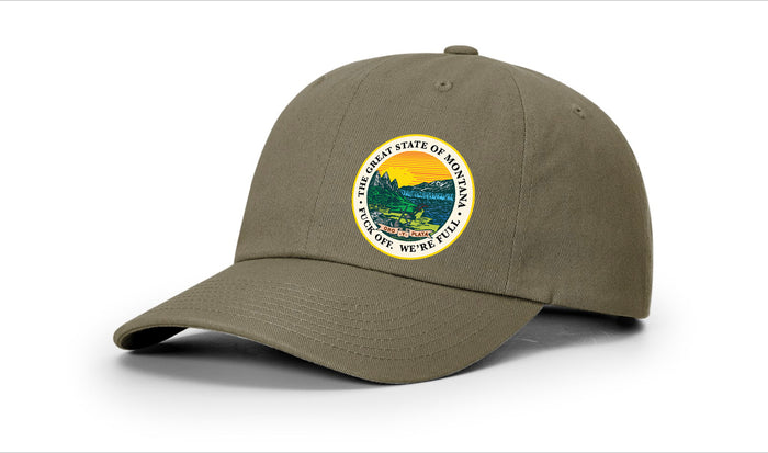 "Montana Seal ""We're Full"" Dad Hat"