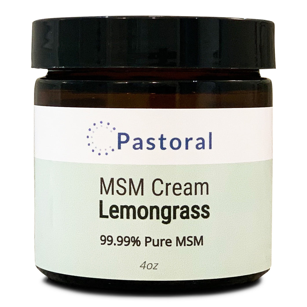Lemongrass MSM Cream (4oz) - Pastoral Canada