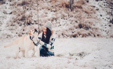 Bundle up and explore the great outdoors with your dog.