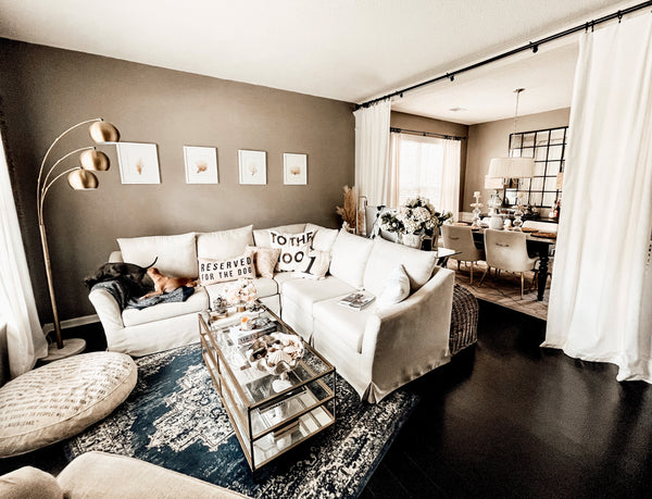 Neutral tone interior styling tips for pet-friendly homes.