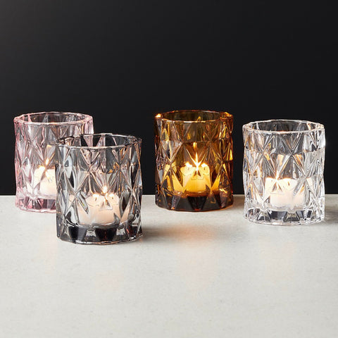 Glam up your bar with the Set of 6 Betty Clear Tea Lights