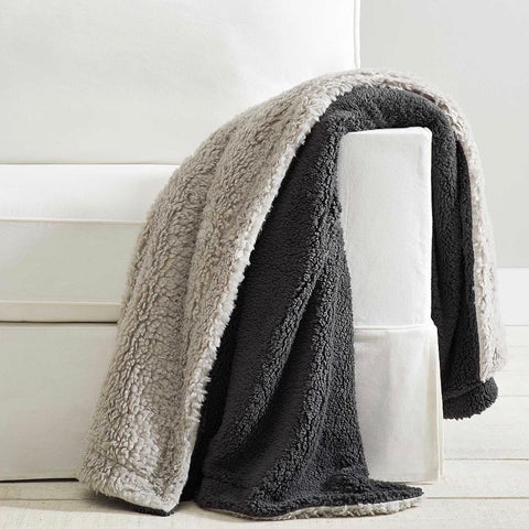 """50 x 60"""" Fireside Cozy Sherpa Reversible Throw, $49.00 from Potterybarn"""
