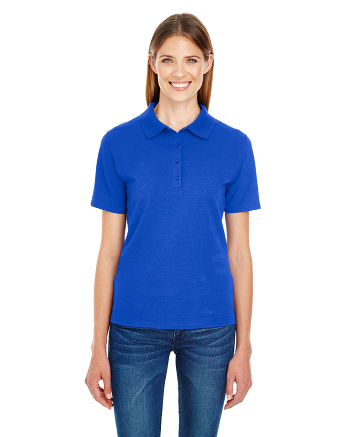Hanes Ladies' 6.5 oz. X-Temp® Piqué Short-Sleeve Polo with Fresh IQ - 035P