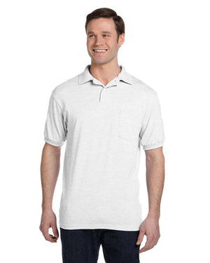 Hanes Adult 5.2 oz., 50/50 EcoSmart® Jersey Pocket Polo - 054P