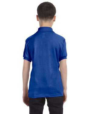 Hanes Youth 5.2 oz., 50/50 EcoSmart® Jersey Knit Polo - 054Y