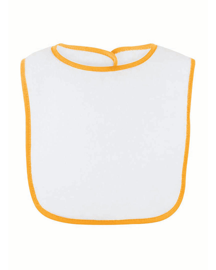 Rabbit Skins Infant Contrast Trim Terry Bib - 1003