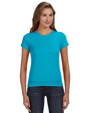 Anvil Ladies' 1x1 Baby Rib Scoop T-Shirt - 1441