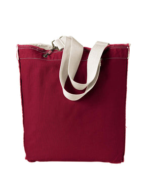 Authentic Pigment 14 oz. Direct-Dyed Raw-Edge Tote - 1906