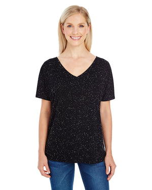 Threadfast Apparel Ladies' Triblend Fleck Short-Sleeve V-Neck T-Shirt - 203FV