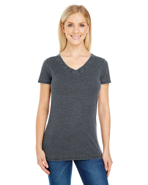 Threadfast Apparel Ladies' Vintage Dye Short-Sleeve V-Neck T-Shirt - 208B