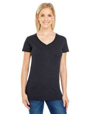 Threadfast Apparel Ladies' Pigment-Dye Short-Sleeve V-Neck T-Shirt - 230B
