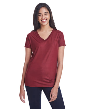 Threadfast Apparel Ladies' Liquid Jersey V-Neck T-Shirt - 240RV