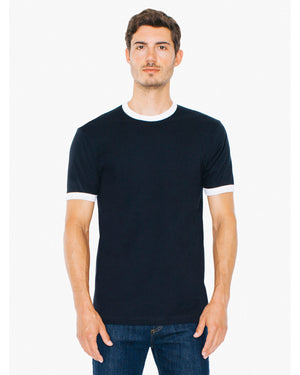 American Apparel Unisex Fine Jersey Ringer T-Shirt - 2410W