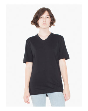American Apparel Unisex Organic Fine Jersey Short-Sleeve Classic V-Neck - 24321OW