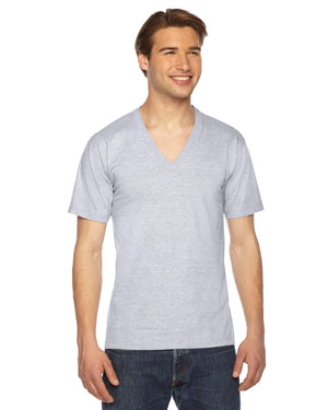 American Apparel Unisex Fine Jersey Short-Sleeve V-Neck T-Shirt - 2456W