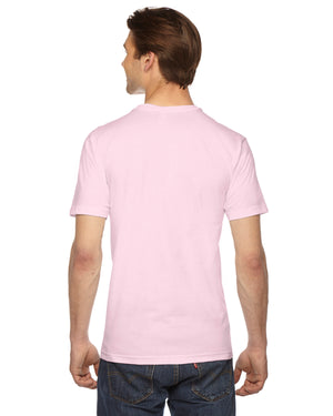 American Apparel Unisex USA Made Fine Jersey Short-Sleeve V-Neck T-Shirt - 2456